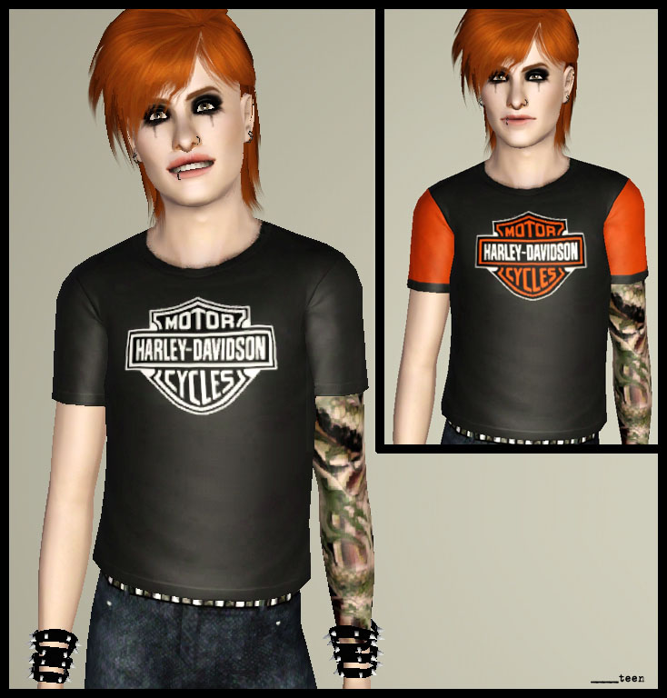 Harley Davidson shirts for male teens and adults! by Astraea Nevermore