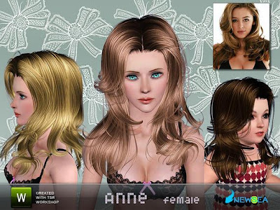 Newsea Anne Female Hairstyle. Download at The Sims Resource - Subscriber