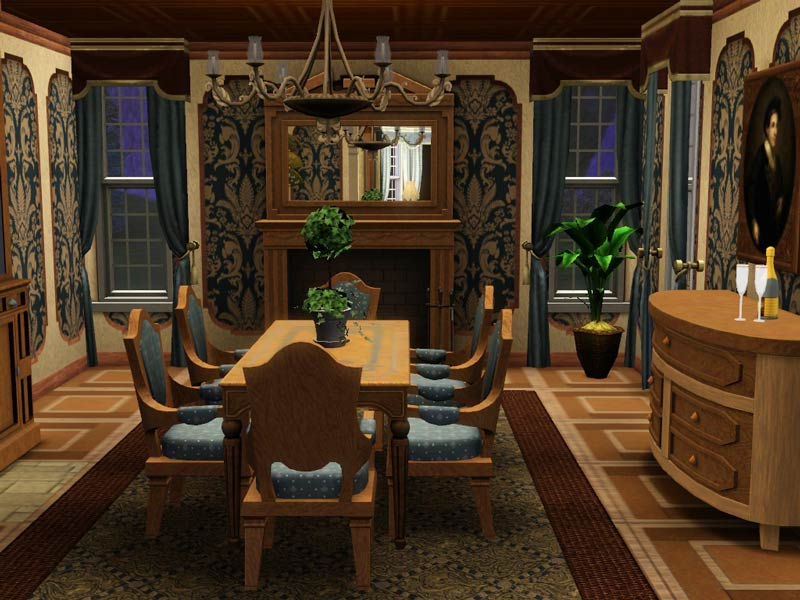 My sims 3 blog hummingbird lane victorian no cc by for Sims 3 dining room ideas