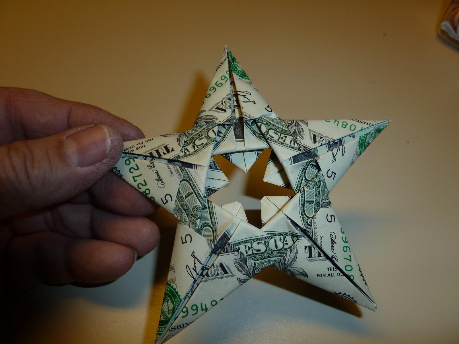 Как сделать звезду из деньги 565