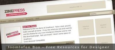 ZinePress - Free Blogger - Wordpress template magazine
