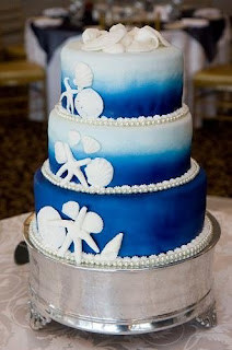ocean wedding cake