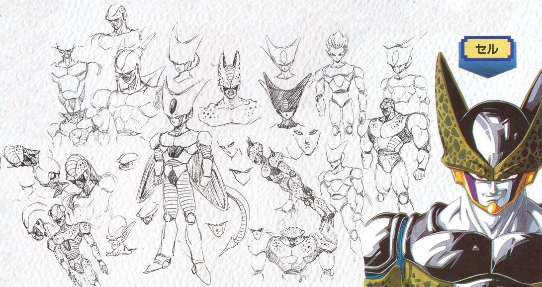 Bocetos originales de Dragon Ball