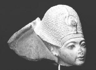 The blue crown of king Tut