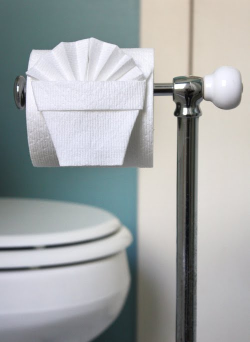 Essential life skill: toilet paper origami | How About Orange