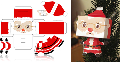 This Santa Claus papertoy is cute! Everyone who works in a cubicle ...