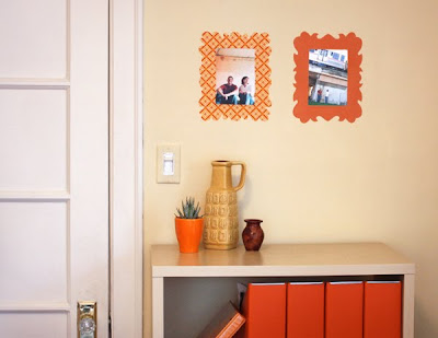 Diy fabric wall decals how about orange for Diy fabric picture frame
