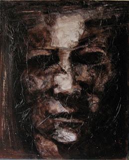 Halloween, cuadro de la serie de terror de Juan Sánchez Sotelo. Academia de dibujo y pintura Artistas6 de Madrid. Clases y cursos para aprender a pintar.