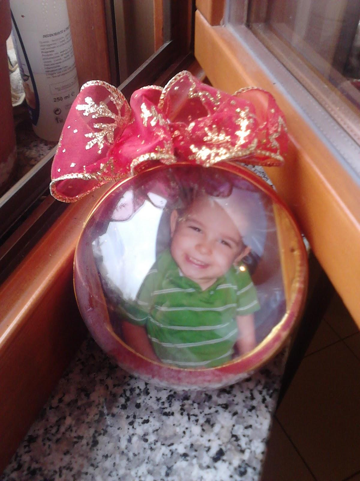 Simpatikkkissima palle di natale con le foto dei miei bimbi for Antifurto con le palle