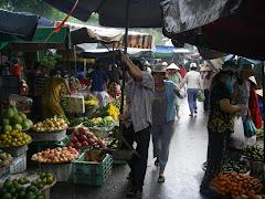 Bit of rain at the Hue market
