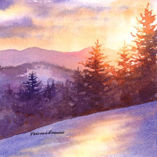 � Mountain Sunset�