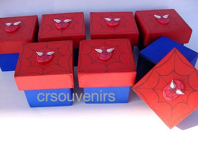 Souvenirs cajas del Hombre Araña
