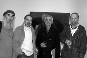 Leopoldo Nóvoa, Carlos Oroza,Javier Soane.  Exposición de Leopoldo Nóvoa. Galería SQC.Santiago de C