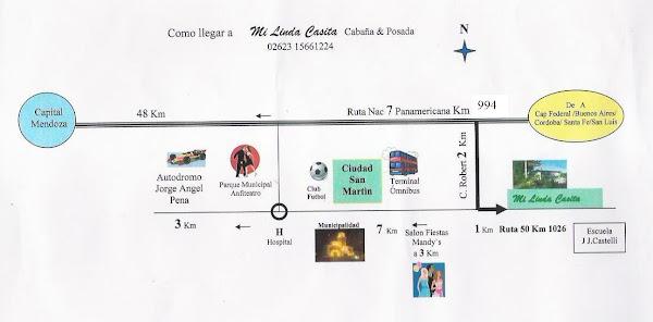 Plano de ubicacion respecto de la ciudad y alrededores
