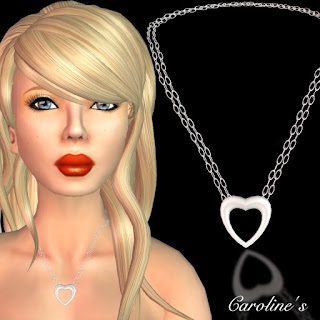 Necklace With Floating Heart