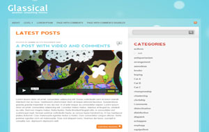 Glassical Blogger Template