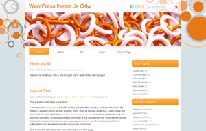Js O4w Beautiful Orange White Blogger Template