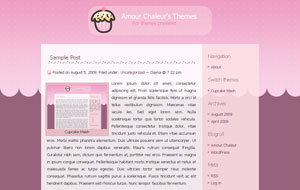 Cupcake Mash Cute Pink Blogger Template