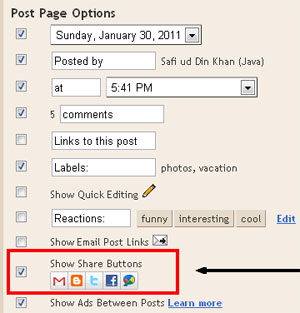 Blogspot How to: Add the Official Share Buttons
