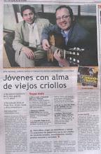"""Entrevista en el Diario """"El Peruano"""""""