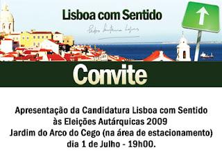 Convite - 1 Julho, Arco Cego, 19h