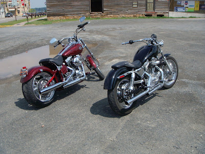 Harley Davidson Rocker C. This red Rocker is a