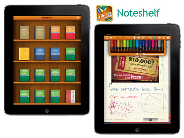 noteshelf create custom paper