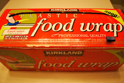 Plastic wrap. Kirkland's Stretch-Tite plastic food wrap sees more action than just about anything else in our kitchen.