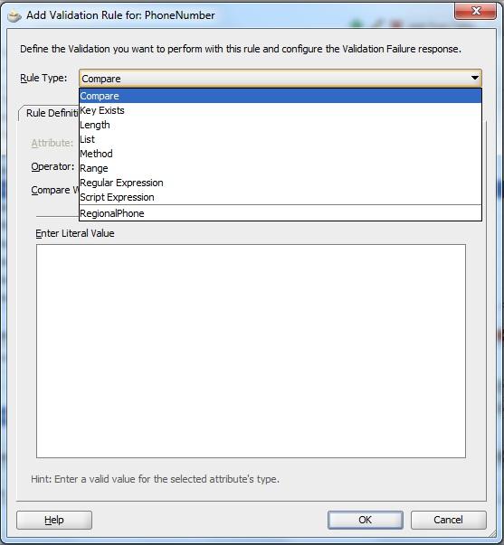 JDeveloper - Validations in ADF (Custom Validation Rule