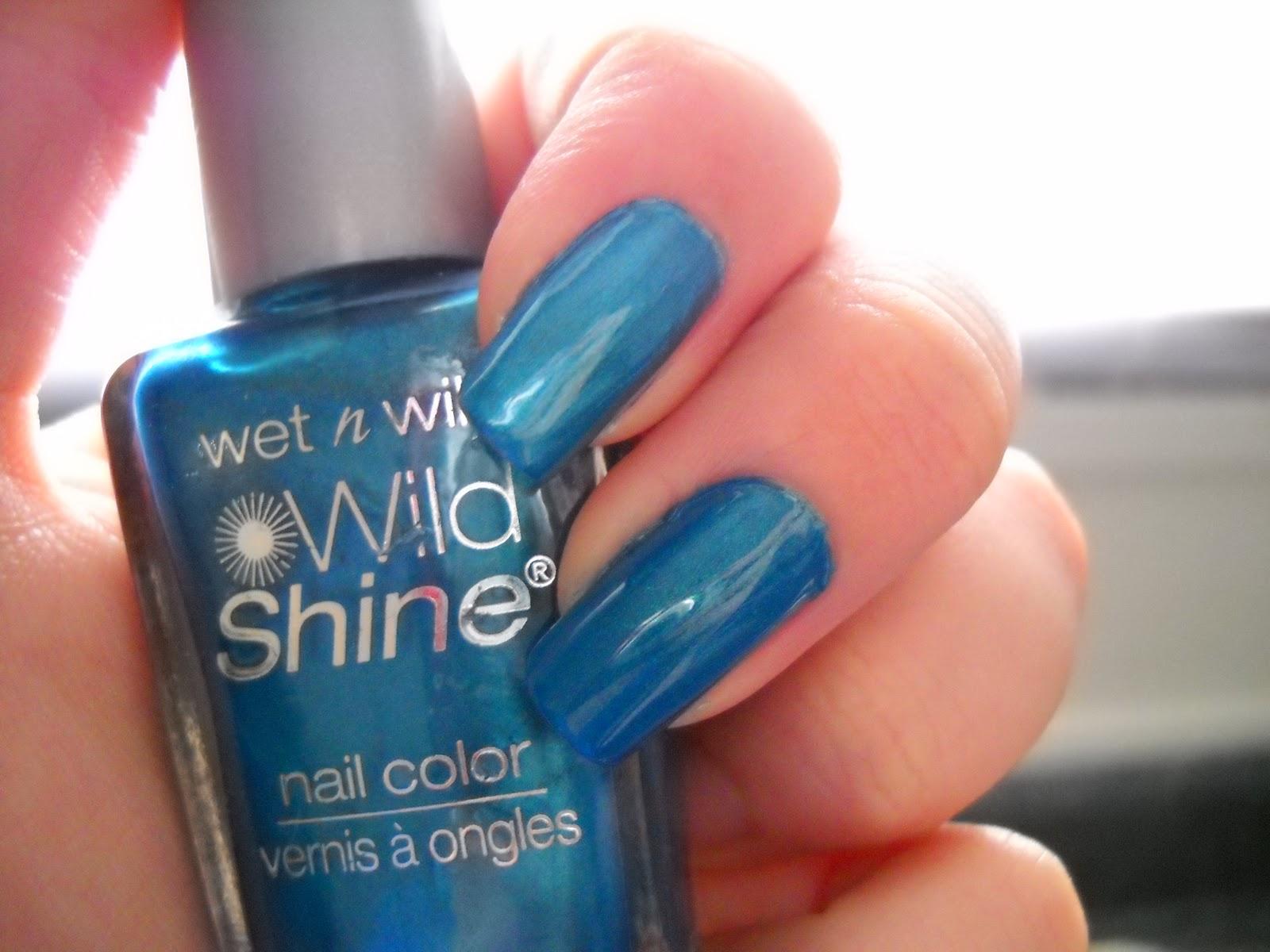 Nail Art Designs Wet N Wilds Bijou Blue Vs Nycs Empire State Blue