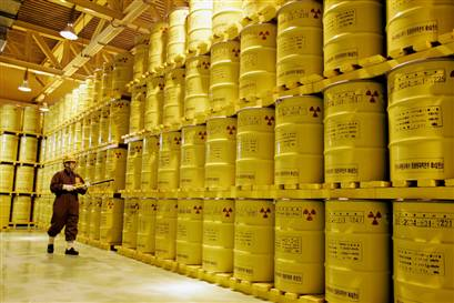 """a solution to the problem of nuclear waste disposal """"the salt is completely unaffected by any nuclear waste you  that in fact geologic disposal  nuclear waste solution seen in desert salt."""