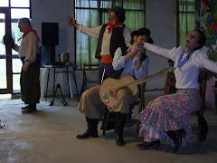 Los actores en escena
