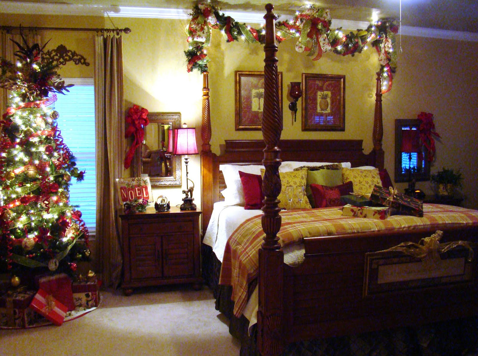Adventures in decorating master bedroom gets a new do for Room decor for christmas