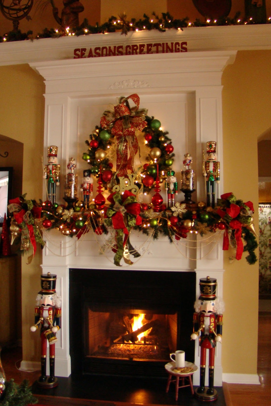 adventures in decorating nutcracker mantel