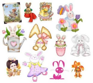 Bunnies - PNG Photoshop Clipart