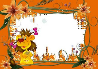 Funny Lion Frame for Photoshop