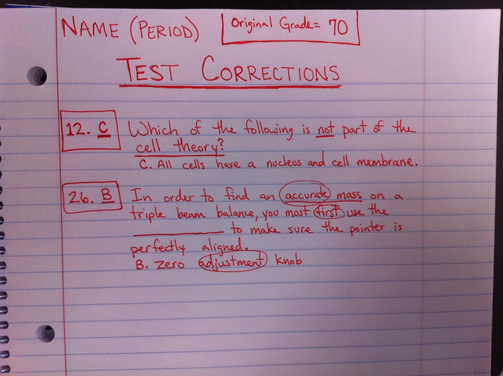 test corrections The corrections lesson plans include daily lessons, fun activities, essay topics, test/quiz questions, and more everything you need to teach the corrections.