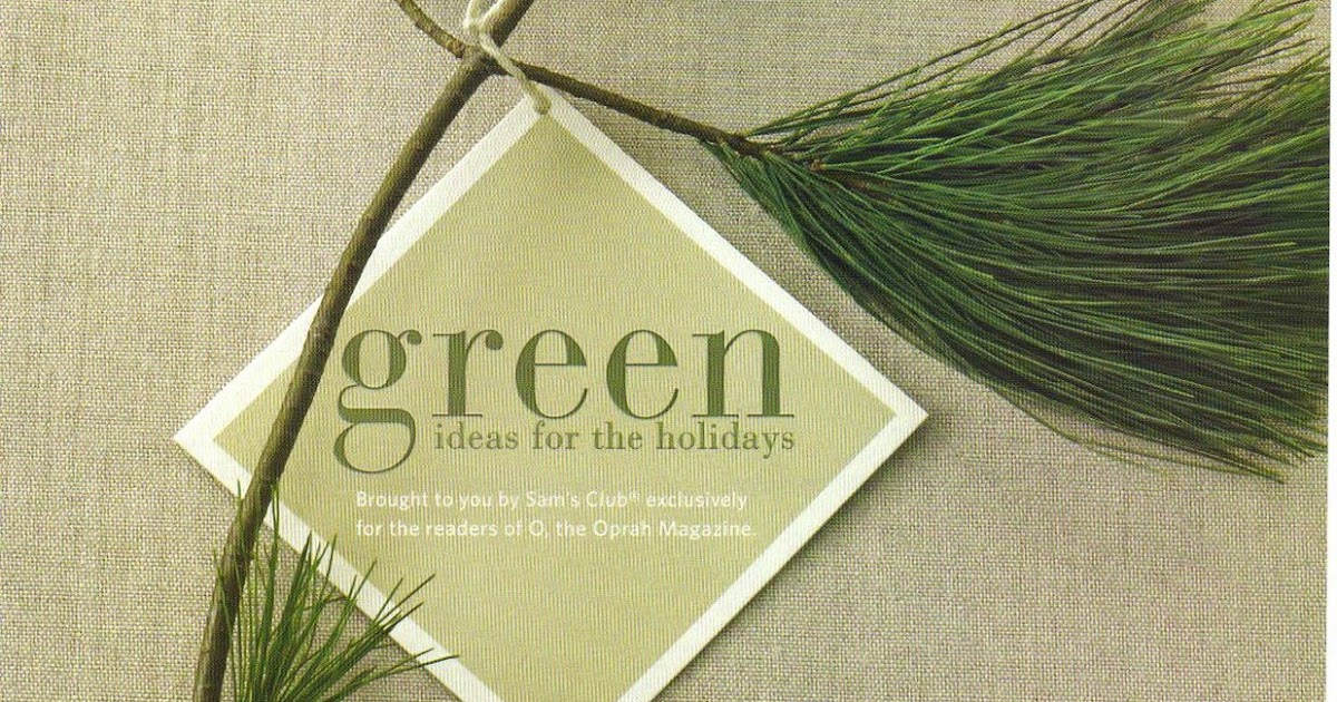 """Profit for Non Profit?: Sam's Club says go """"Green for the Holidays"""""""