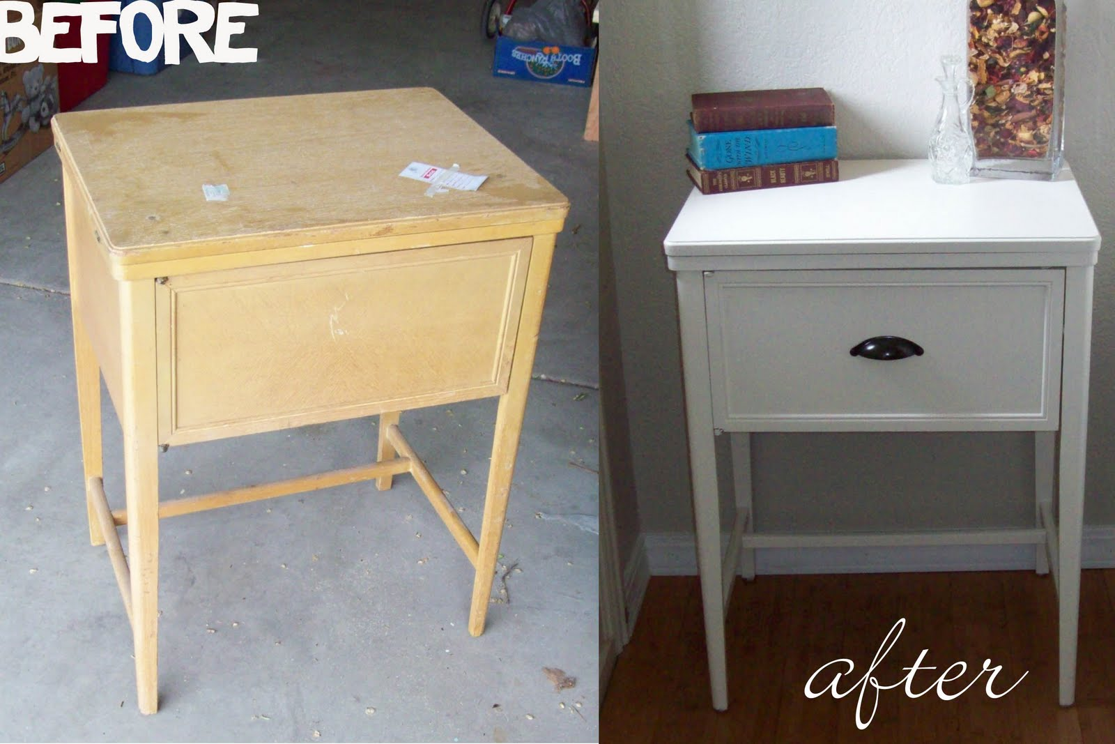 front door tableRemodelaholic  Sewing Table Now An Entry Table Remodel