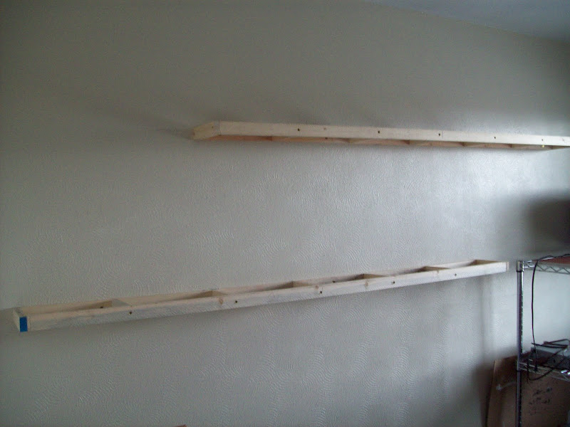 Floating Shelves with Frames