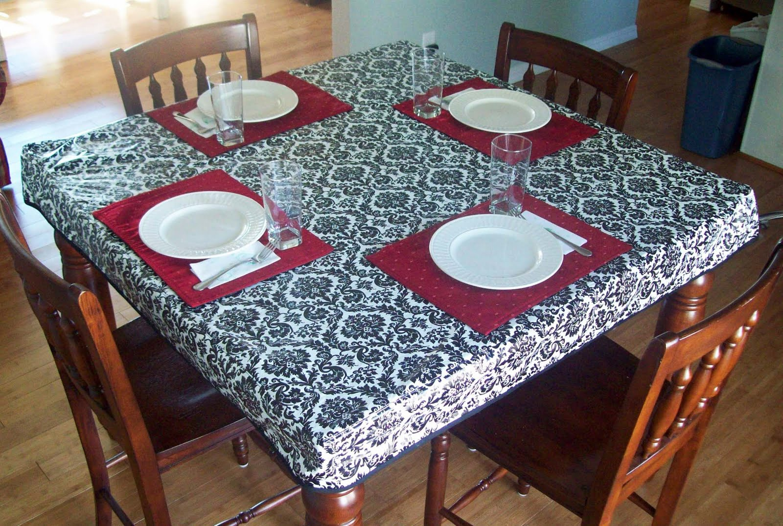 fitted simple tablecloth - Kitchen Table Covers Vinyl