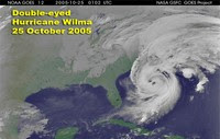 Dwa oczka huraganu Wilma