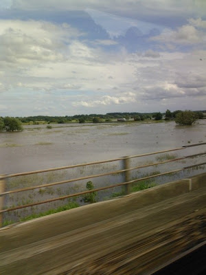 South Yorkshire flooding. A view from the train
