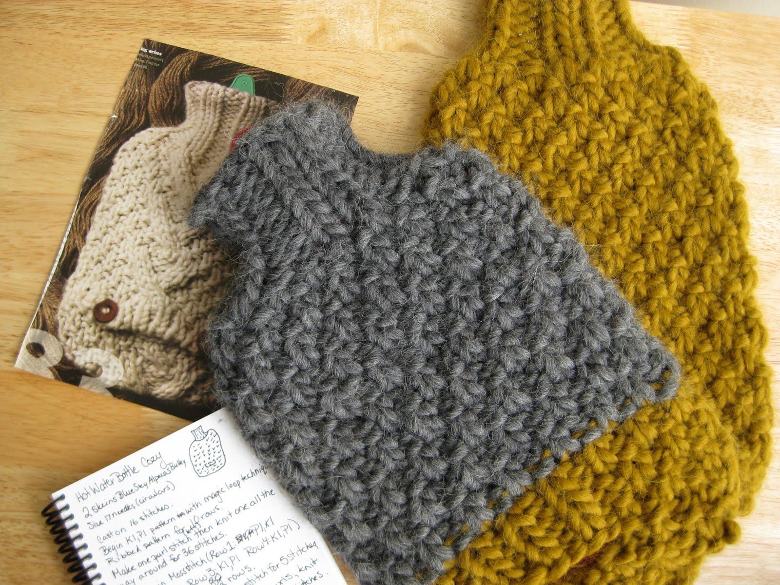 Knitting Pattern For Hot Water Bottle Cozy : erica knits: November 2009