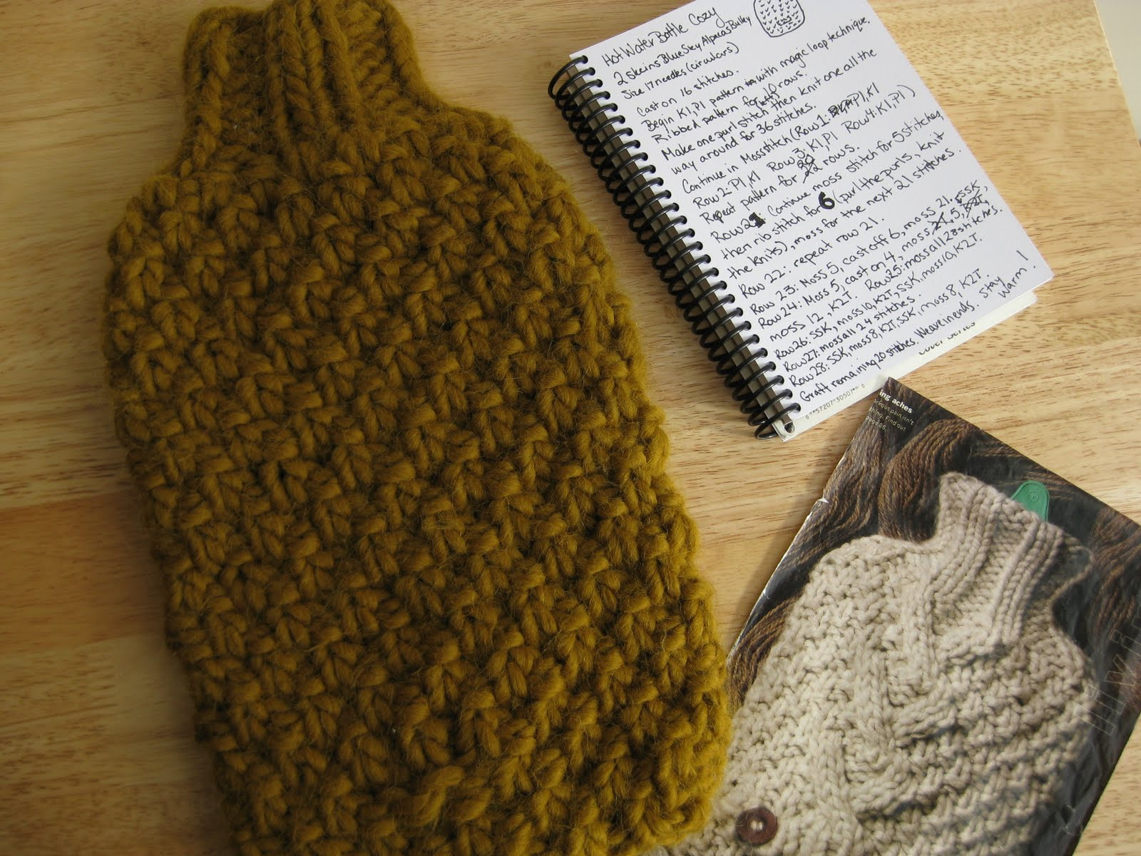 erica knits: Hot Water Bottle Cozy