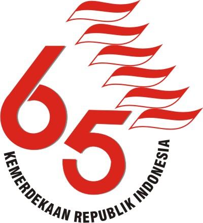 vector art: Logo hut republik indonesia ke 65