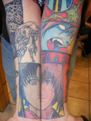 Popular Manga Tattoo Designs On Forehand Tattoos
