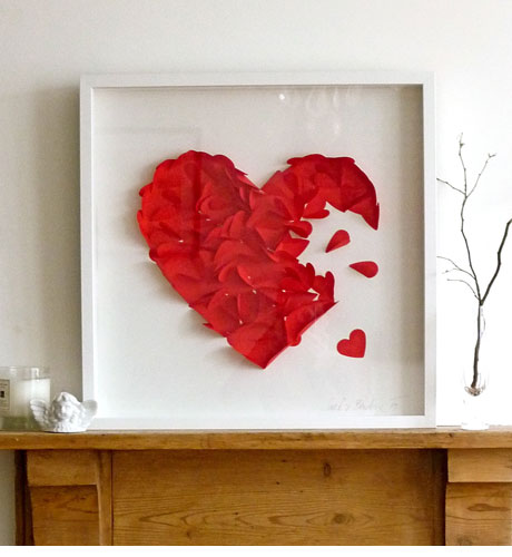 Wall Art Heart Picture : Cantinho da eli quadros com colagem fa?a voc? mesma