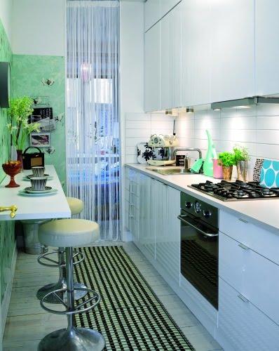 Criando asas cozinha estreita e charmosa - Amueblar cocina pequena ...