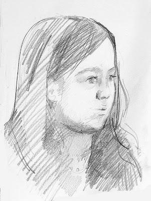 Graphite pencil portraits
